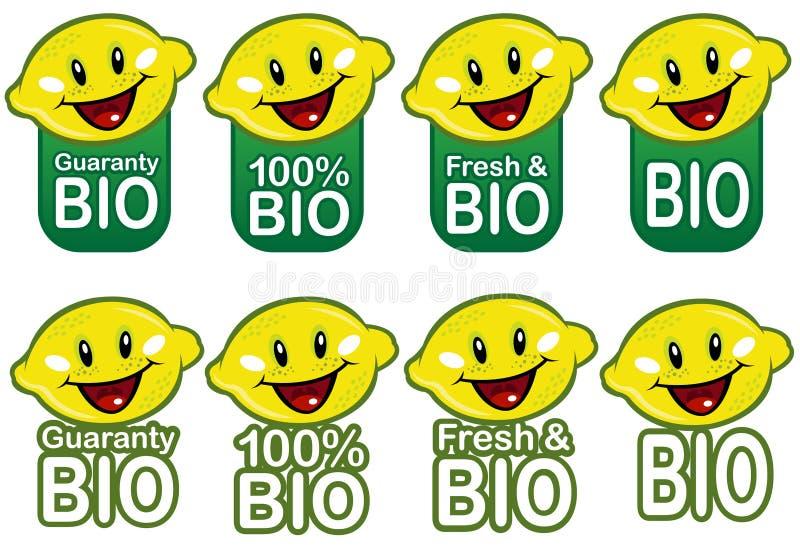 BioLemmon versiegelt Ansammlung stock abbildung