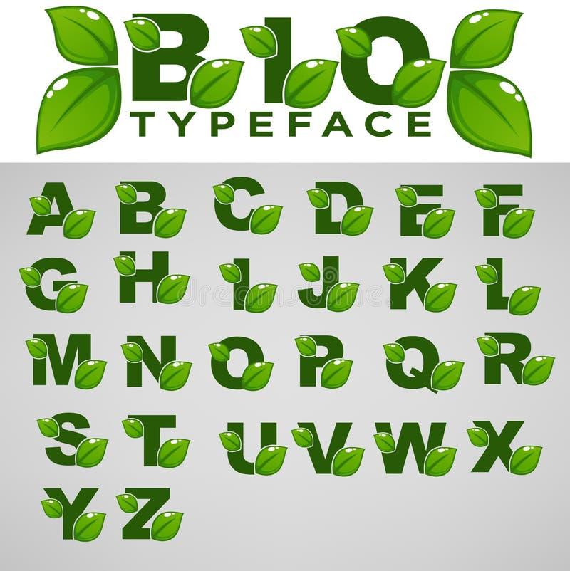 Biolettersoort voor Uw Eco en het Organische Van letters voorzien vector illustratie