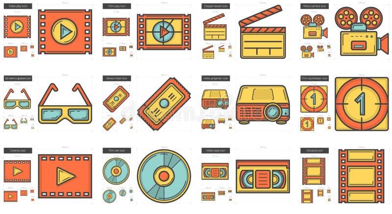 Biolinje symbolsuppsättning royaltyfri illustrationer