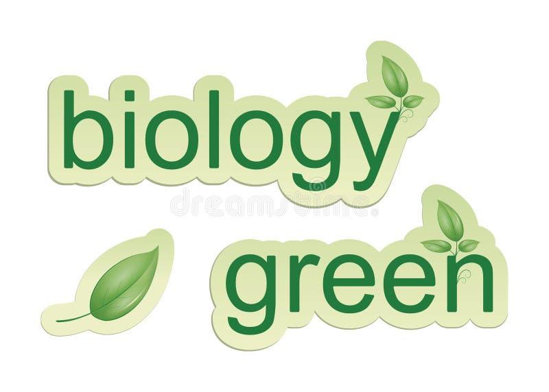 Biologia verde illustrazione vettoriale