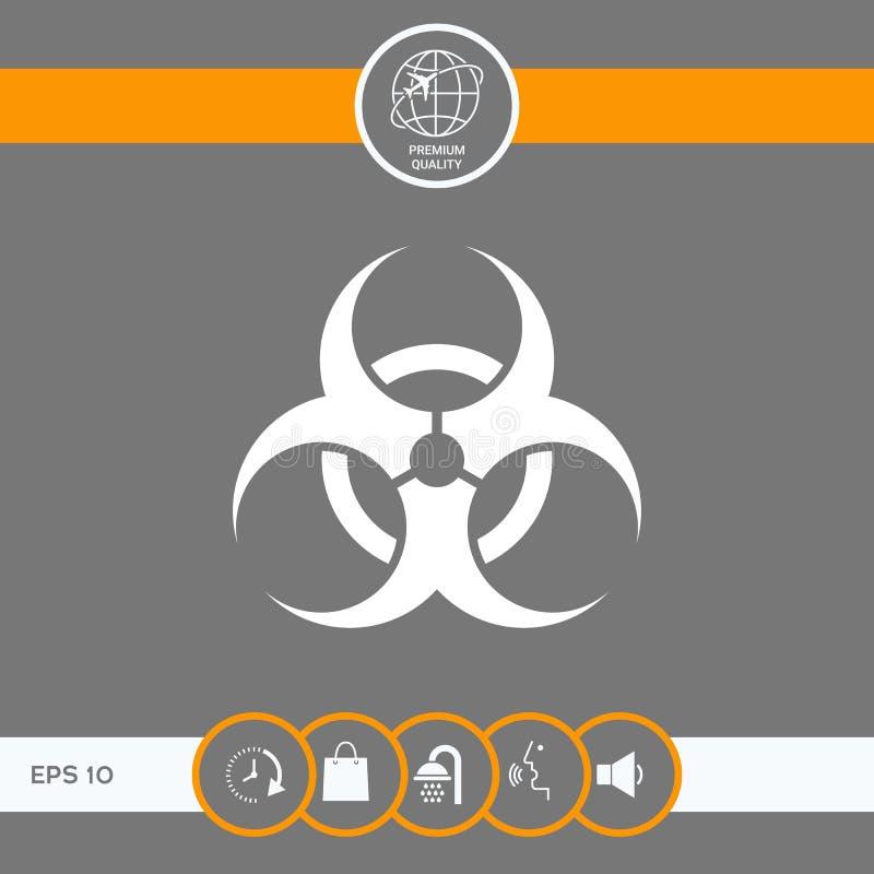 Biological hazard sign. Element for your design . Signs and symbols - graphic elements for your design vector illustration