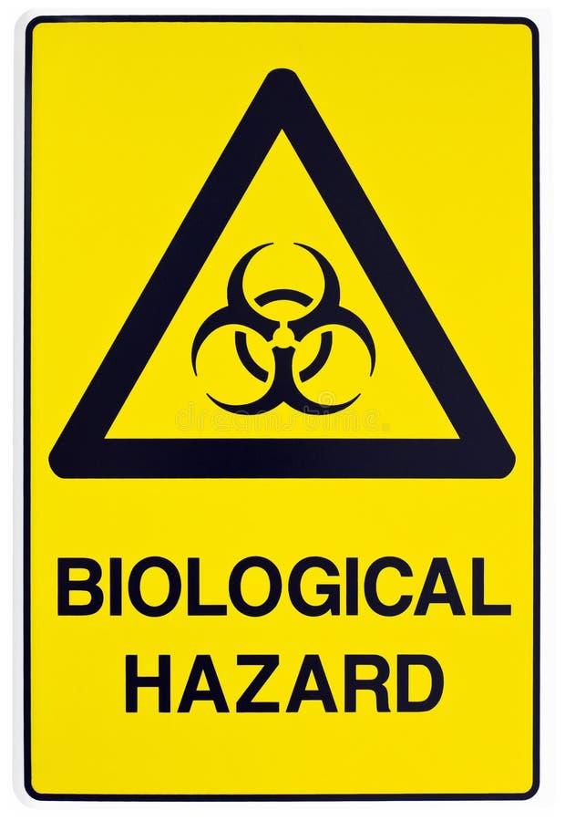 Biological hazard warning sign stock photography