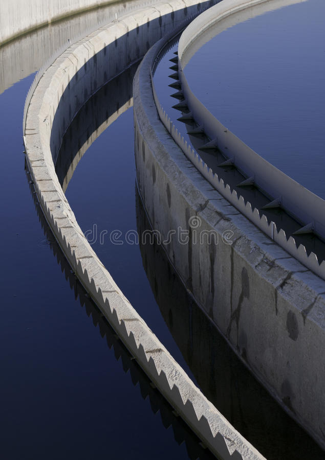 Biological wastewater treatment plant stock photos