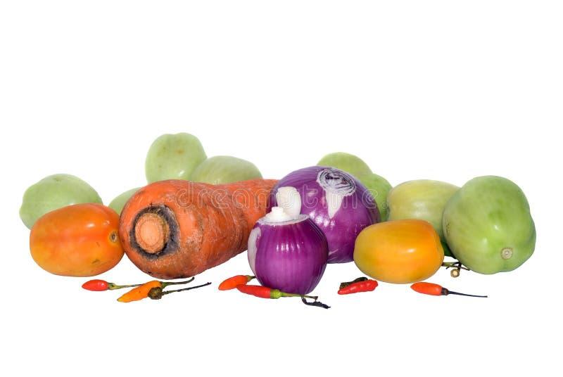 biologiczni odosobneni surowi warzywa zdjęcia stock
