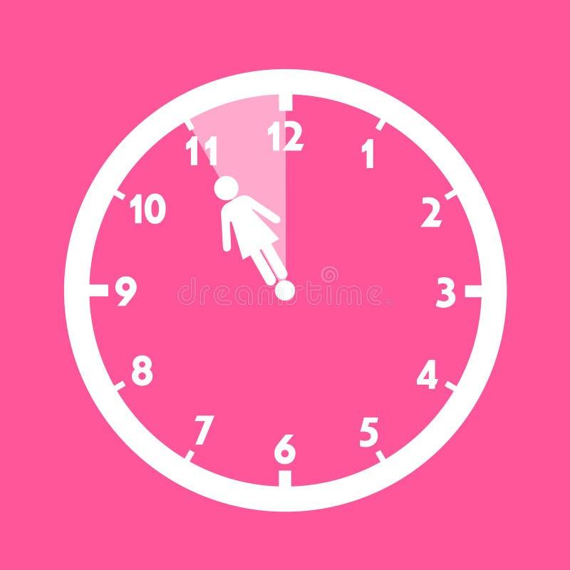 Biologiczni zegary kobieta ilustracja wektor