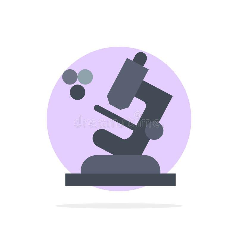 Biologie, Microscoop, van de Achtergrond wetenschaps Abstract Cirkel Vlak kleurenpictogram vector illustratie