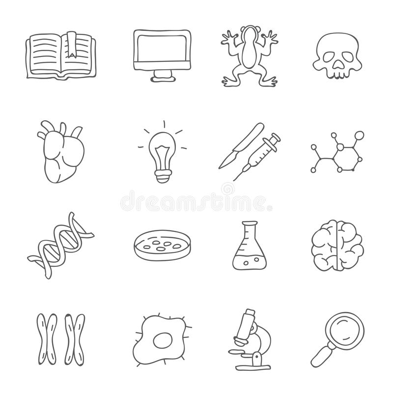 biologie Vector pictogrammen vector illustratie