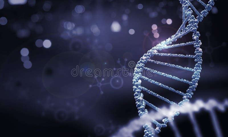 Biologie, Wissenschaft und medizinisches Technologiekonzept stockfoto