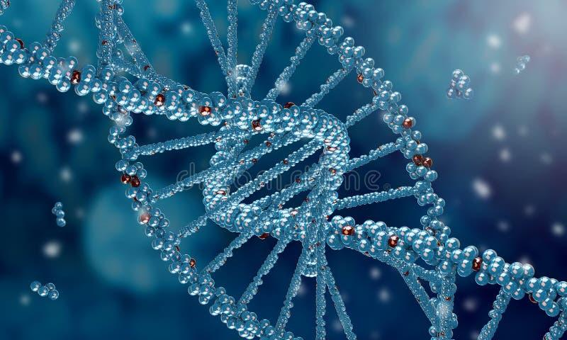 Biologie, Wissenschaft und medizinisches Technologiekonzept lizenzfreies stockfoto