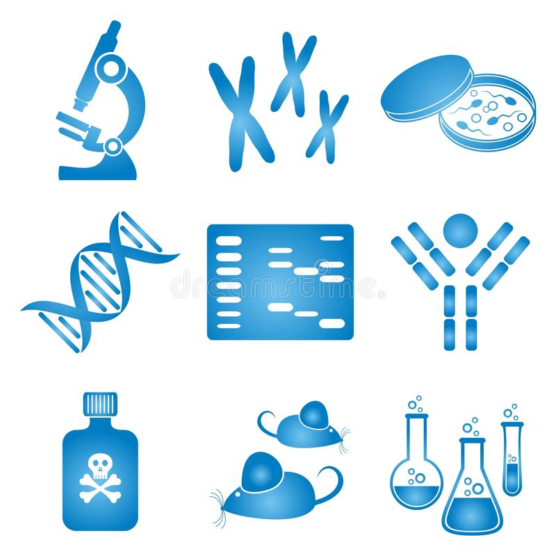Biologiewissenschaftsikonen lizenzfreie abbildung