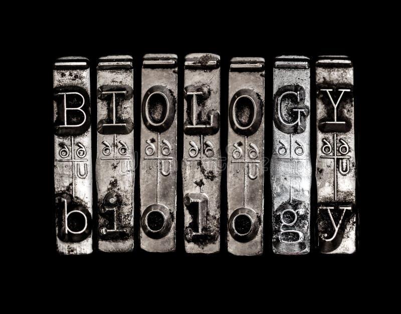 Biologii słowo fotografia stock