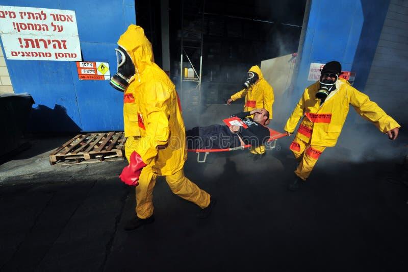Biologique et guerre chimique photos libres de droits