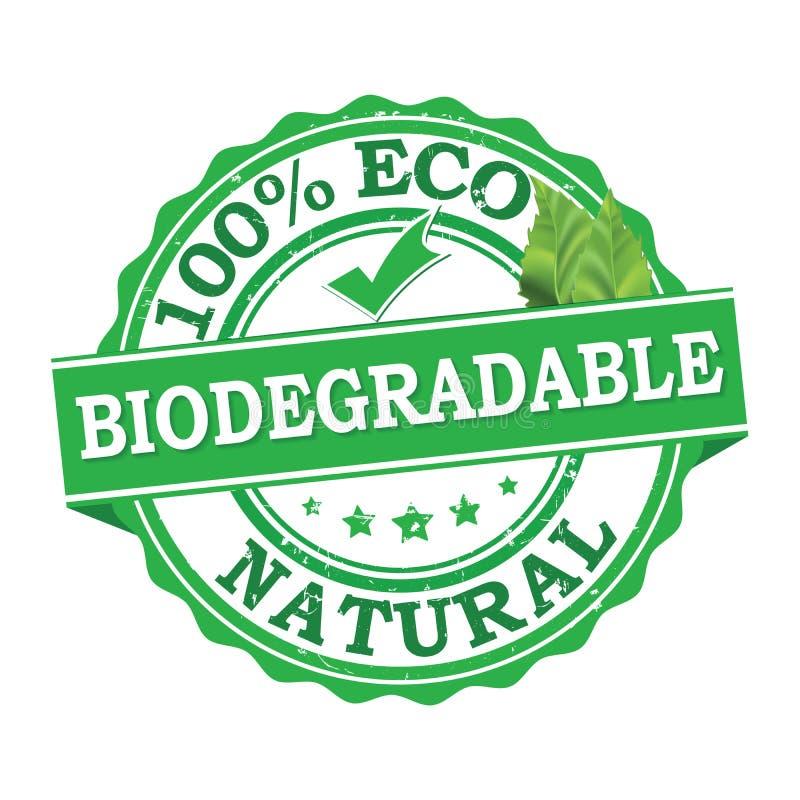 Biologisch afbreekbaar - grunge zegel ook voor druk vector illustratie