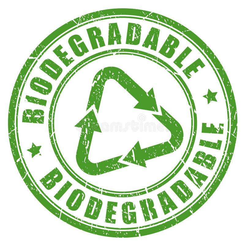 Biologisch afbreekbare groene rubberzegel stock illustratie