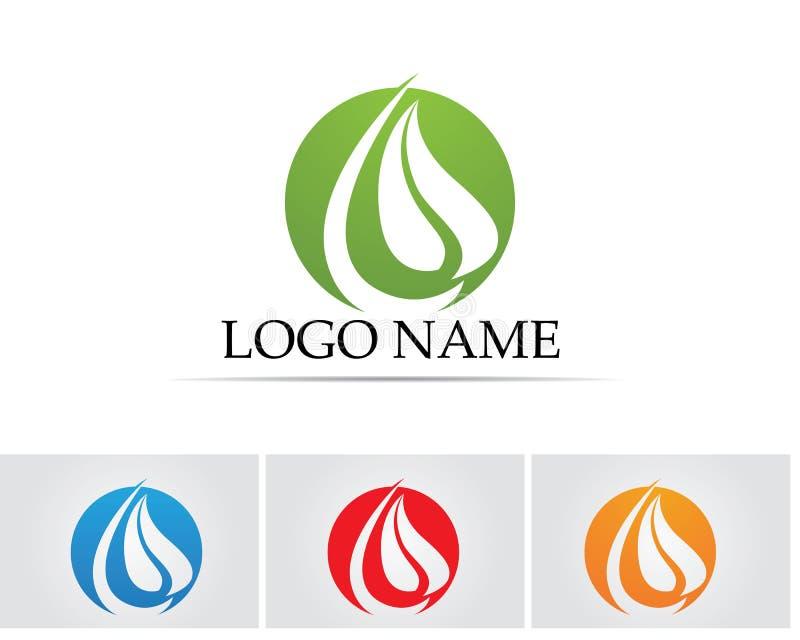 biologisch evenwicht, bio, merk, het brandmerken, zaken, zorg, compa stock illustratie