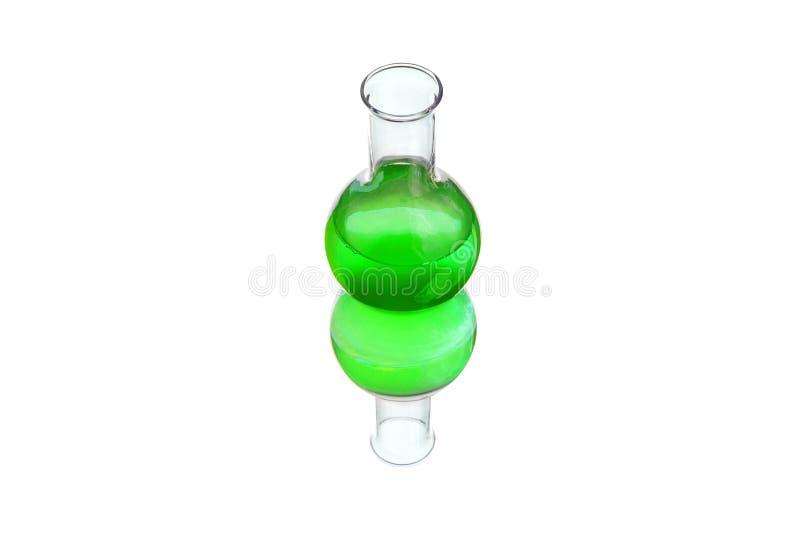 Biologisch gefährliche Substanz in einer Spritze und in einem Reagenzglas lokalisiert auf weißem Hintergrund lizenzfreie stockbilder