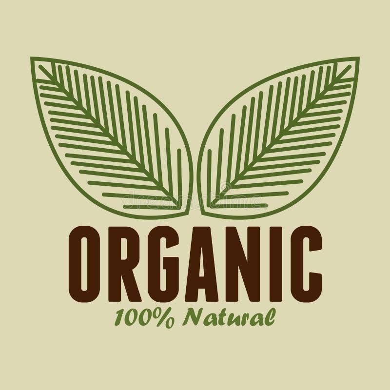 biologisch product gewaarborgde verbinding stock illustratie
