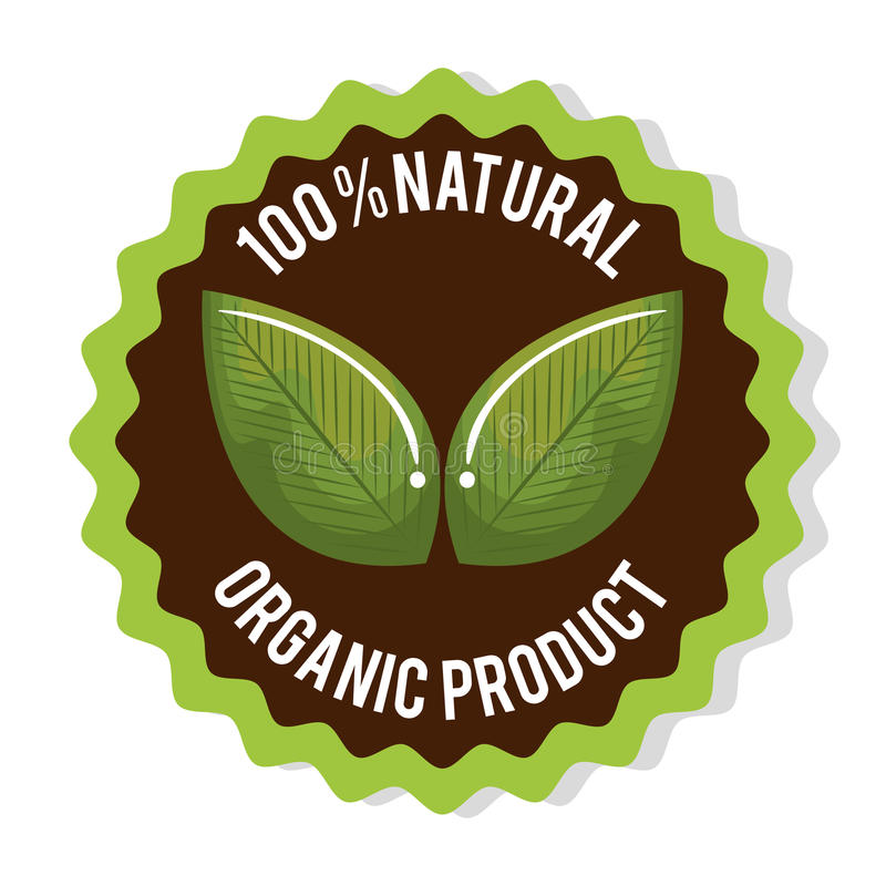 biologisch product gewaarborgde verbinding vector illustratie