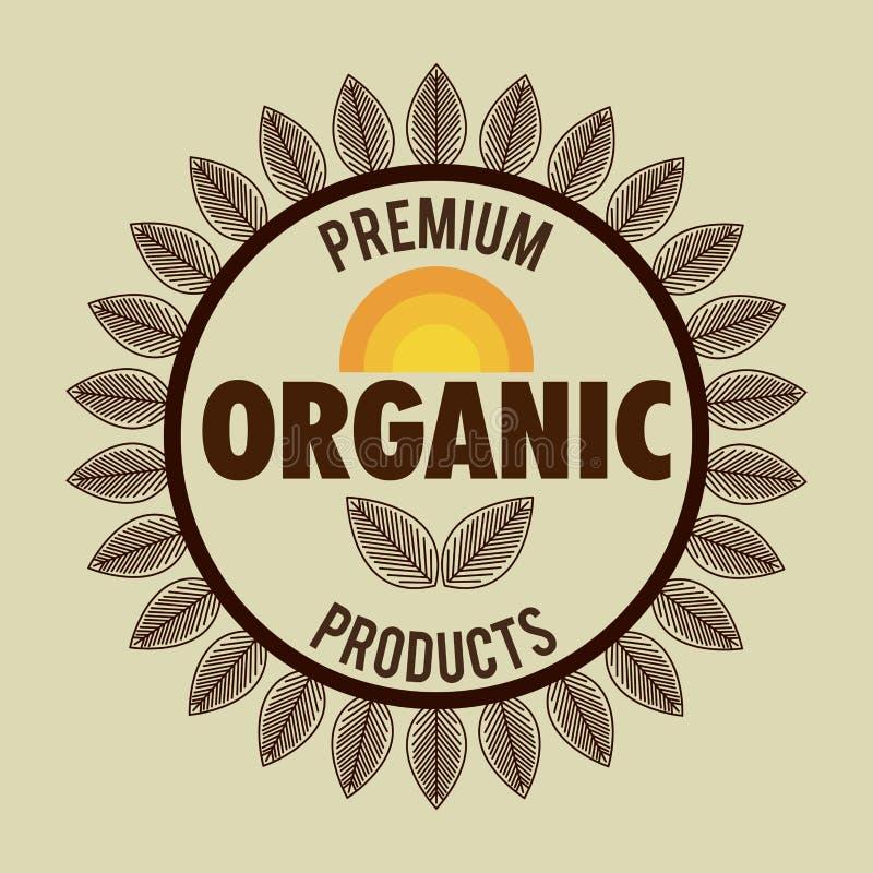 biologisch product gewaarborgde verbinding royalty-vrije illustratie