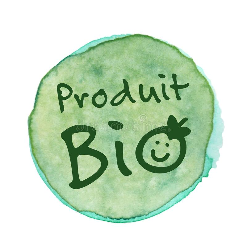Biologisch product in het Frans: Produit Bio vector illustratie