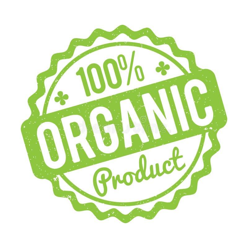 Biologisch product rubberzegel groen op een witte achtergrond vector illustratie