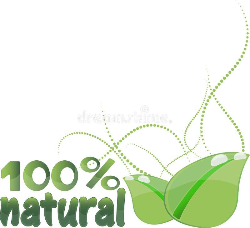 Biologisch productontwerp, vectorillustratie vector illustratie