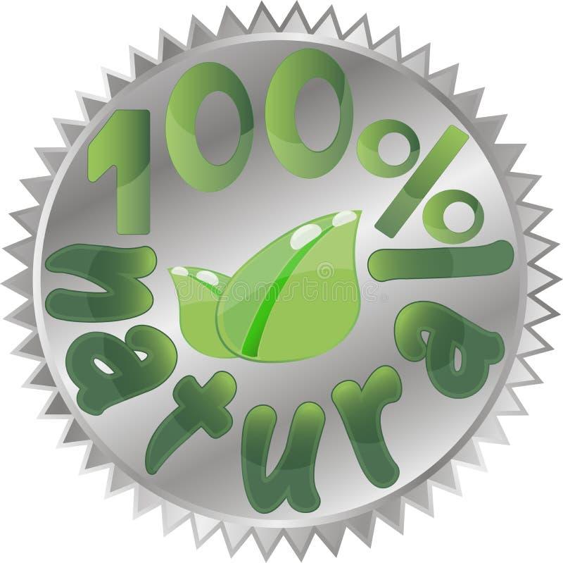 Biologisch productontwerp, vectorillustratie stock illustratie