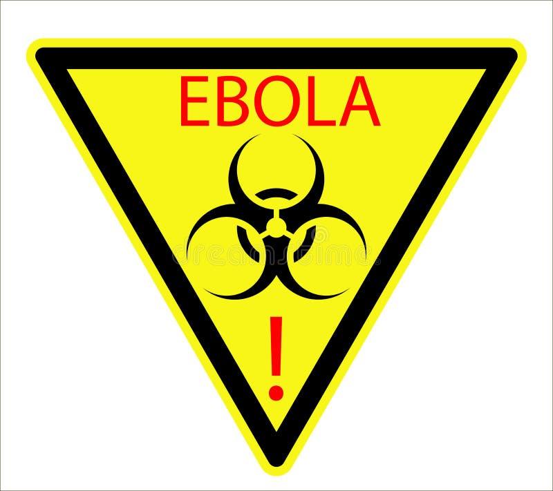 Biologisches Zeichen von Ebola Virus stock abbildung