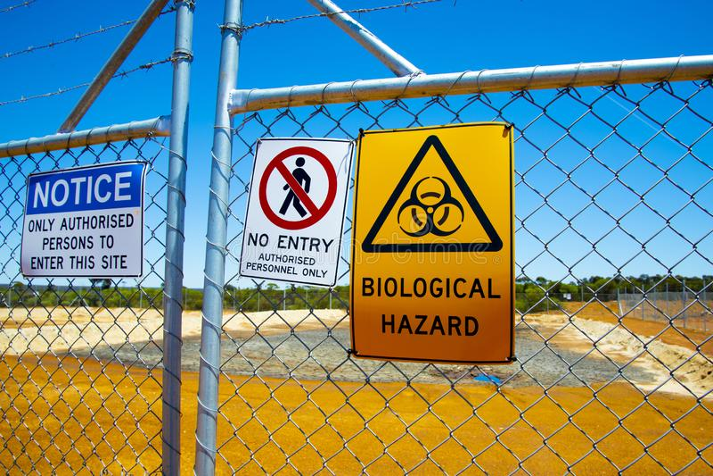 Biologisk fara arkivfoto