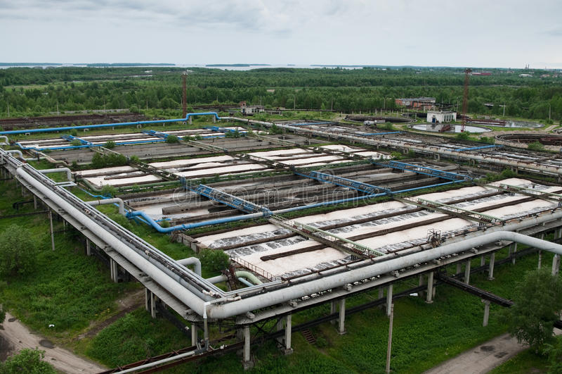 biologiskt återanvändande stationsvatten royaltyfri foto
