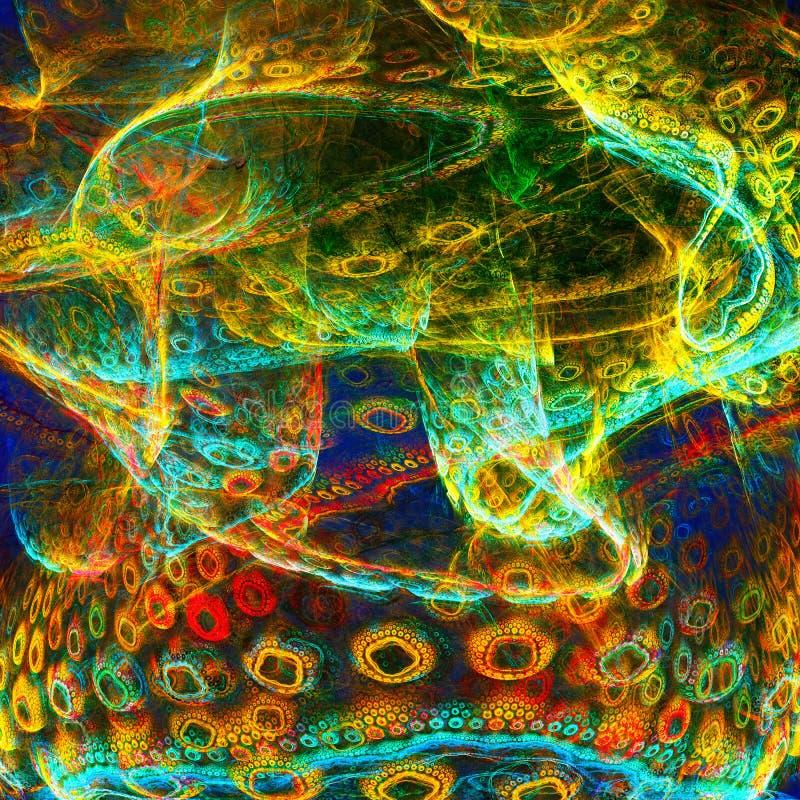 Biologiskt liv Celler av mikroorganismer royaltyfri illustrationer