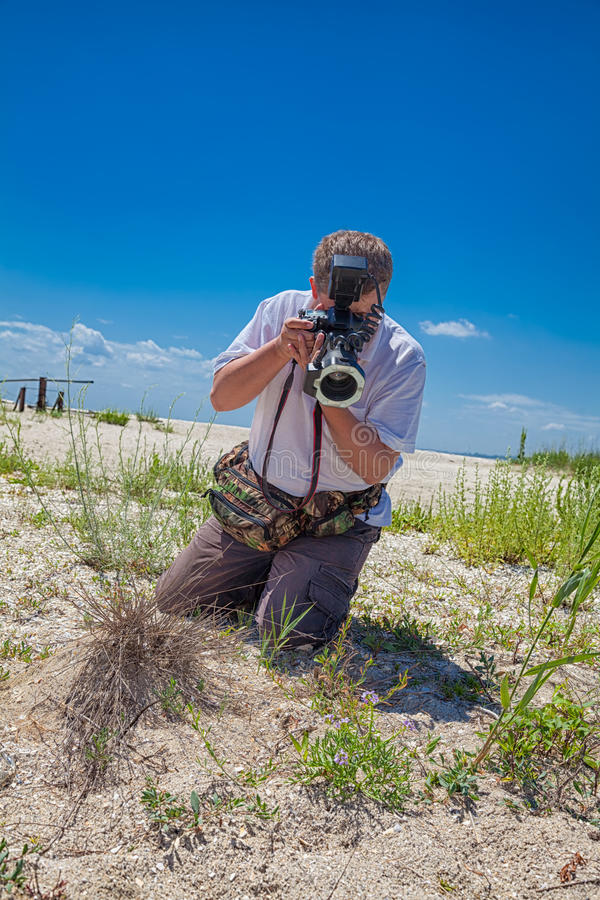 Free Biologist In The Field Royalty Free Stock Image - 37933036