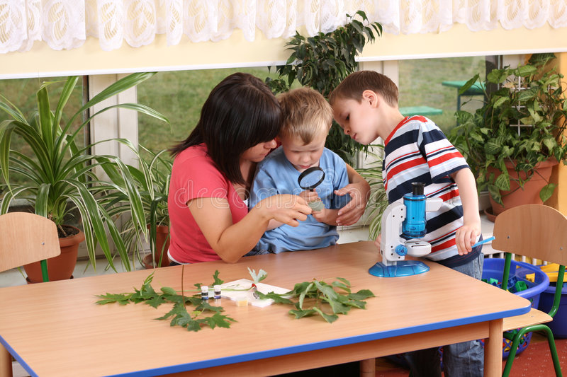 Download Biology lesson stock photo. Image of preschool, research - 5465336