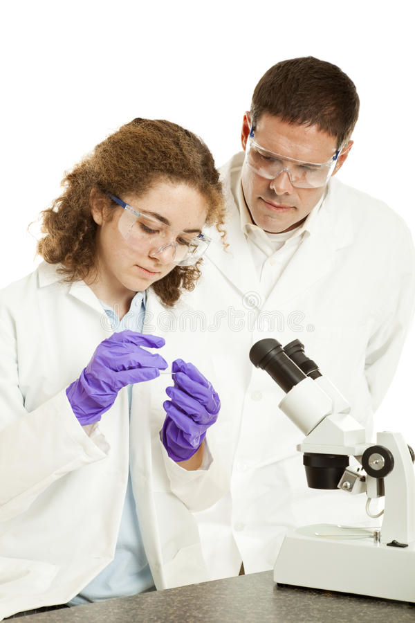Biology Student and Teacher royalty free stock photo