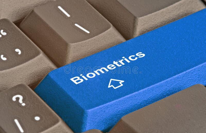 Biométrica azul das FO da chave imagens de stock royalty free