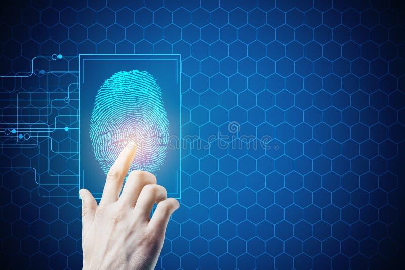 Biométrica, seguridad y acceso foto de archivo libre de regalías