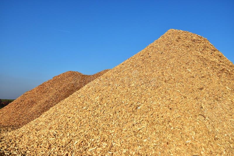 Biomasa de los pedazos de madera foto de archivo libre de regalías