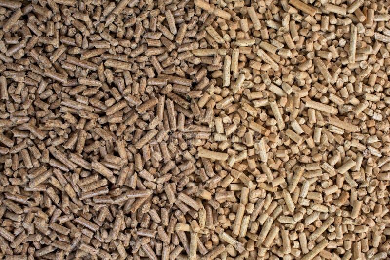 Biomasa de madera formada en pelotillas foto de archivo