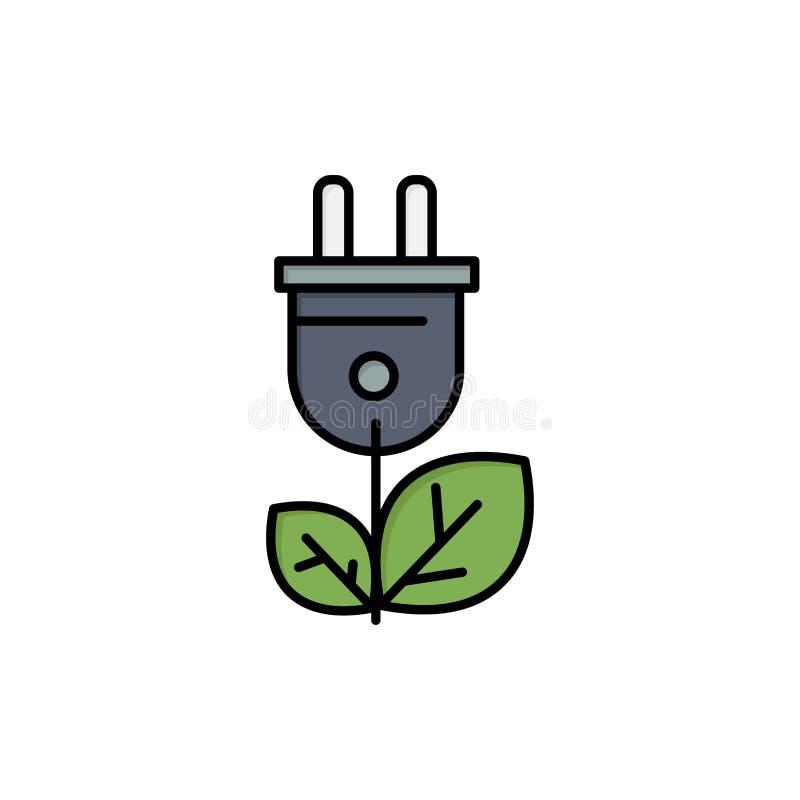 Biomass, energia, prymka, władza koloru Płaska ikona Wektorowy ikona sztandaru szablon ilustracja wektor