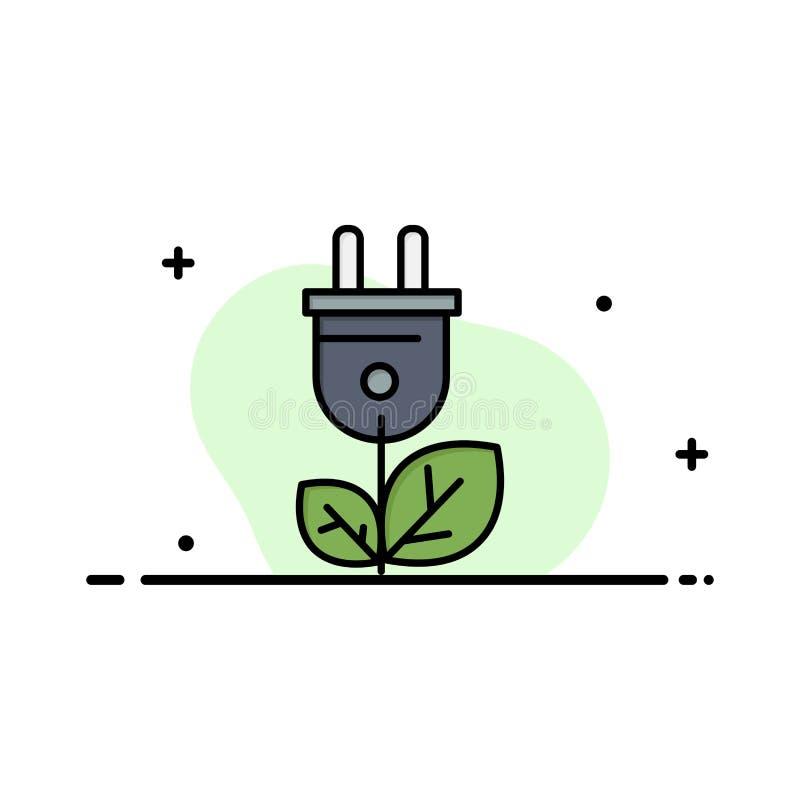 Biomass, energia, prymka, władzy mieszkania ikony sztandaru Biznesowa linia Wypełniający Wektorowy szablon ilustracji