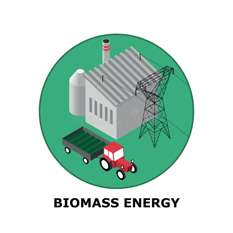 Biomass Energy, Renewable Energy Sources - Part 5 stock illustration