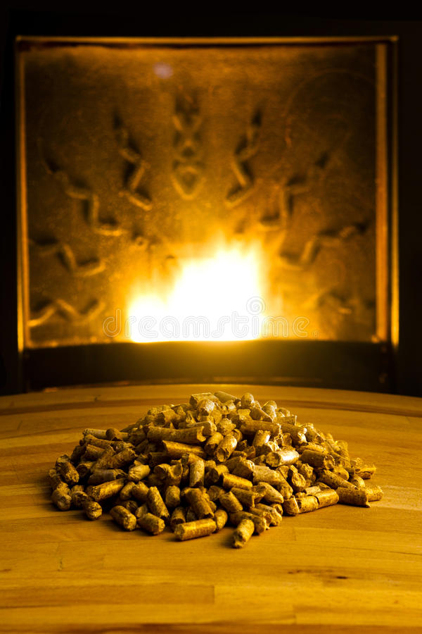 Download Biomass Pellets Illuminated By Flame From Heater Stock Photo - Image: 18497578