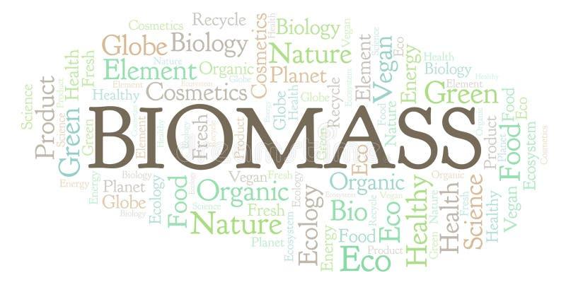 Biomass słowa chmura royalty ilustracja