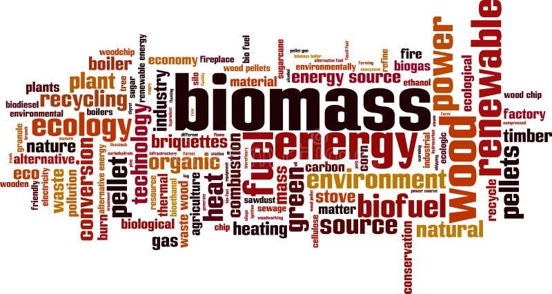 Biomass s?owa chmura ilustracji
