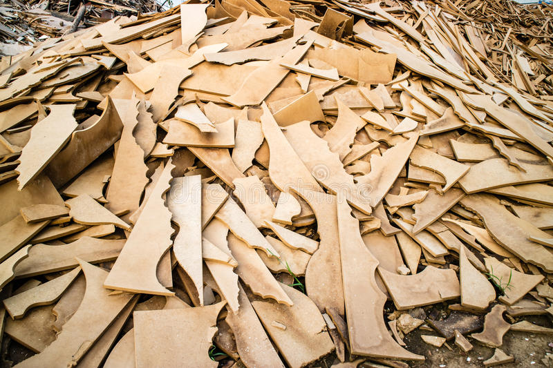 Biomass from wood waste, pelets, woodchip royalty free stock photos