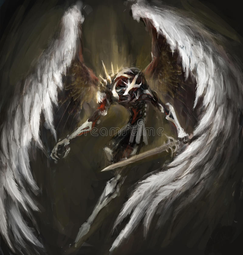 Biomechanical angel stock images