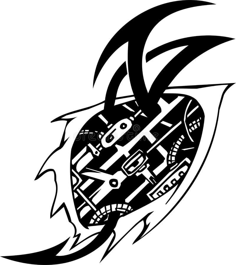 Biomechanical Designs - vector illustration royalty free illustration