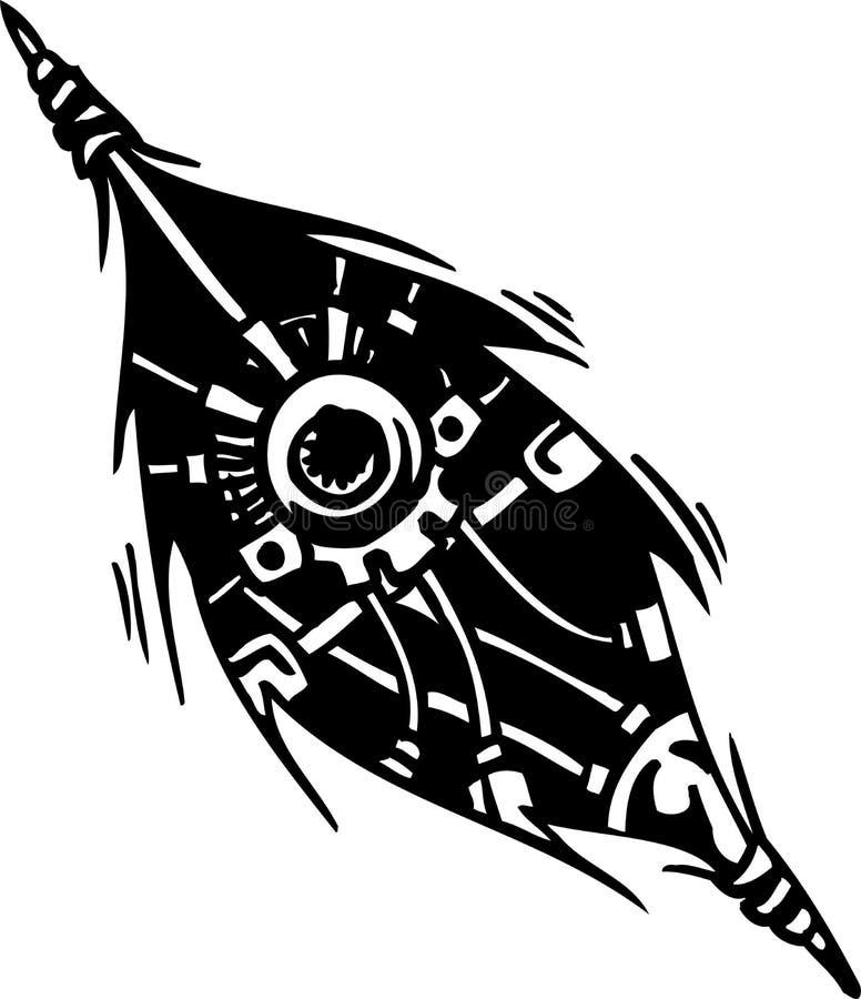 Biomechanical Designs - vector illustration. Tattoo design in biomechanical style. Vinyl-ready stock illustration