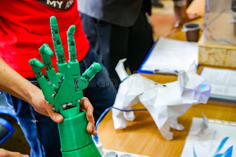 Biomechanisch wapen, robotwapen royalty-vrije stock foto's