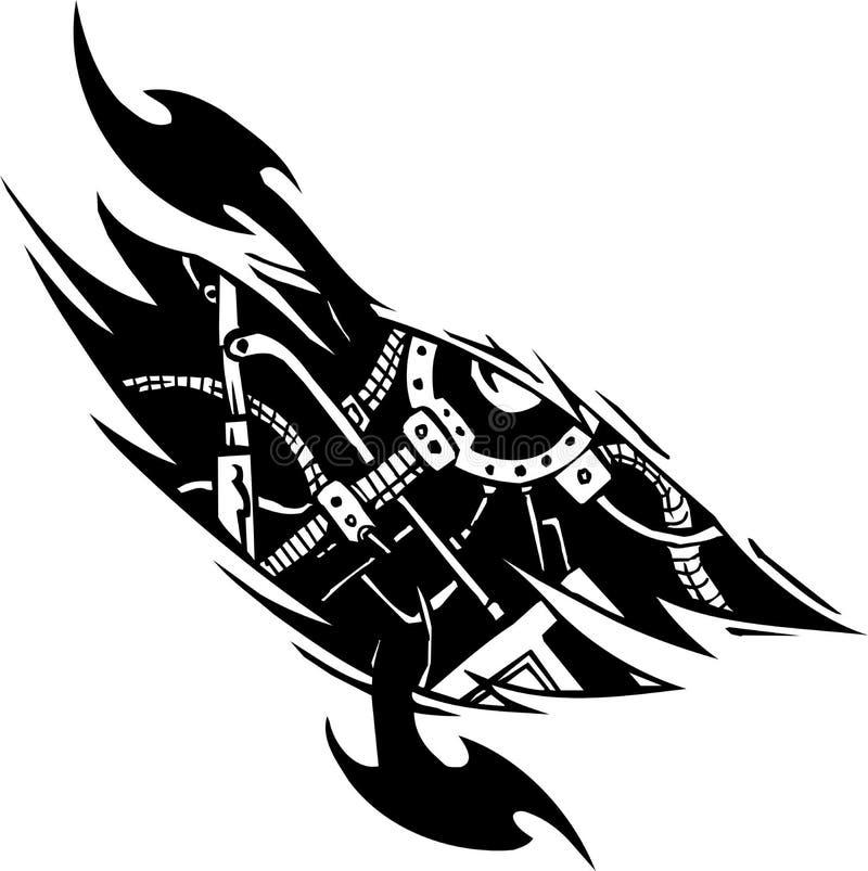 Biomechanische Ontwerpen - vectorillustratie vector illustratie